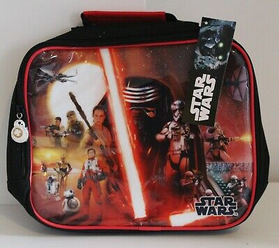 Character Kids Cushioned Lunch Bag Zip Fastening Star Wars Printed Carry Handle • 8.99£