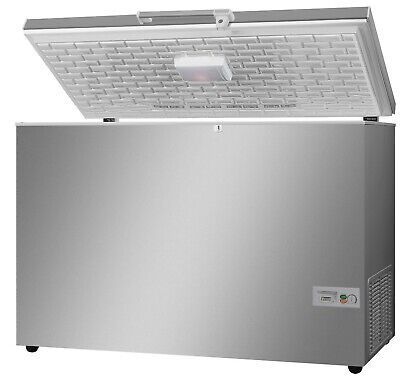 Stainless Steel Lid Commercial Chest Freezer 373 Litres • 680£
