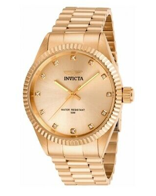 Invicta Specialty Men's 43mm Rose Gold Crystal Accents Quartz Watch 29506 • 68.63£