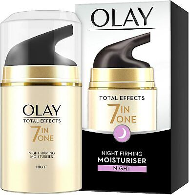 AU16.87 • Buy OLAY Total Effects 7 In ONE NIGHT FIRMING Moisturiser - 50ml