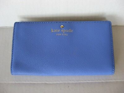 $ CDN36.50 • Buy NEW NWT Kate Spade Mikas Pond Stacy Bifold Leather Wallet Blue (Delphinium)