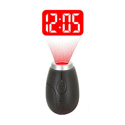 LED Wall Projection Portable Mini Projection Clocks For Rooms Travel Camping • 3.73£