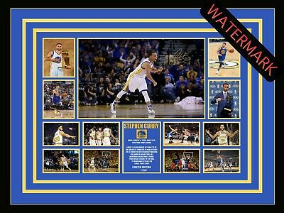 AU98.99 • Buy Steph Curry Golden State Warriors Limited Edition Signed & Framed Memorabilia