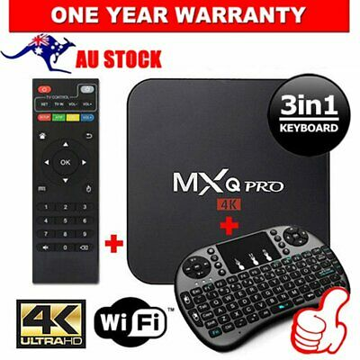 AU69.99 • Buy Smart TV Box MXQ PRO 4K HD WIFI Quad-Core Android 2019 LASTEST Version