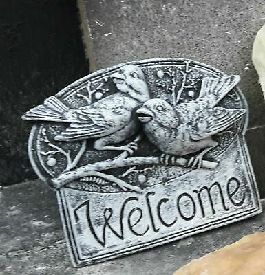 Latex Mould Of Welcome Bird Plaque Concrete Garden Ornament - IN STOCK • 29.99£