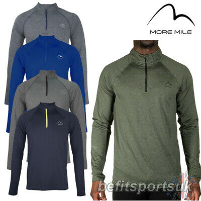 £14.95 • Buy Long Sleeve Zip Running Top More Mile Mens Dri Fit Heat Gym Jersey S M L Xl