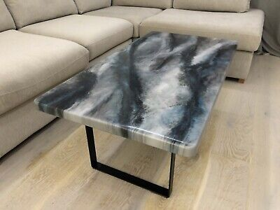 Stone Effect Epoxy Resin Coffee Table, 1100x600mm • 320£