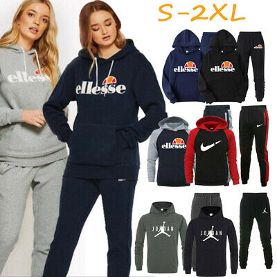 Women Tracksuit Set Hoodie Top Bottoms Trouser Gym Jogging Activewear Sportsuits • 17.86£