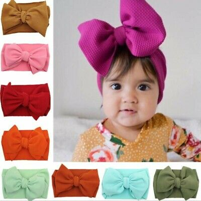 Stylish Baby BOW Head Band Baby Head Wrap Large Bow Knot • 3.93£