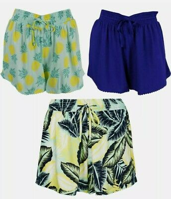 Ex M-S Ladies Summer Beach Shorts 3 Colours To Choose From UK Size 14 Only • 2.50£