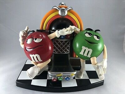 $9.99 • Buy M&M's Rock & Roll Cafe Jukebox | Collectible Candy Dispenser | Red & Green Candy