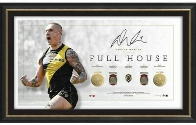 AU695 • Buy Dustin Martin Richmond Signed Framed Brownlow Full House Limited Edition Print