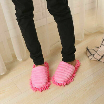 New Mop Slippers Lazy Floor Foot Socks Shoes Quick Polishing Cleaning Dust UK • 6.11£