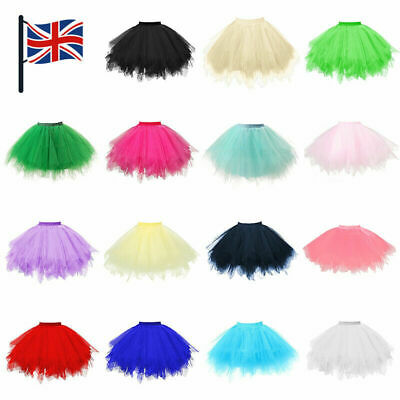 Womens Girls Tutu Skirt Dance Petticoat Party Dress Ballet Fluffy Layer Gift UK • 5.99£