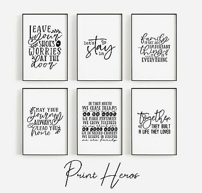 Home Prints Black And White Funny Wall Art Pictures Poster Living Room, Kitchen • 3.99£
