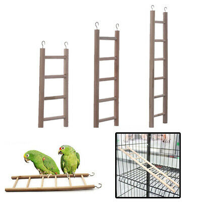 3x Pet Parrot Bird Wooden Ladder Cage Toys Rodent Hamster Mouse Gerbil Degu Rat • 4.49£
