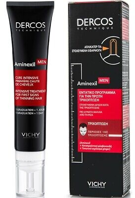 £29.90 • Buy Vichy Dercos Aminexil Men Intensive Treatment Gel For First Hair Fall Areas