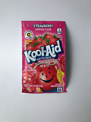 Kool Aid STRAWBERRY Flavour Drink Sachets US Import UK Seller 3.9g  • 1.99£