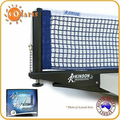 AU69.99 • Buy KINSON Professional ITTF Approved Clip-on Table Tennis Net And Post Set