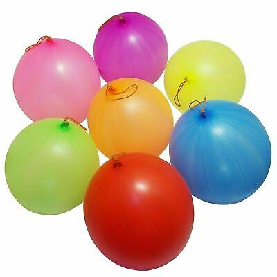 £2.99 • Buy Large Punch Ball Balloons With Elastic Party Bag Fillers Pinata SP 50 Kids Toys