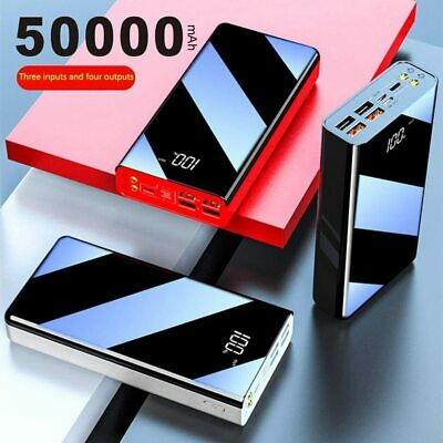 AU47.38 • Buy 50000mAh Power Bank LED Display Full Screen Portable Charger External Battery...