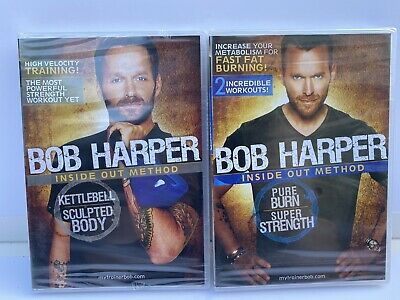 2 X Bob Harper: Inside Out Method - Kettlebell And Pure Burn. Both Sealed. • 12.99£