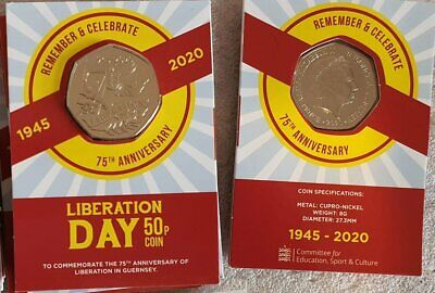 Guernsey Liberation Day 75th Anniversary Limited Edition 50p Card Version • 16.95£