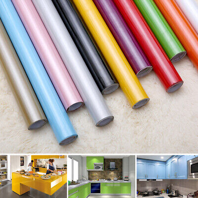 Kitchen Cupboard Door Drawer Liner Cover Self Adhesive Vinyl Wall Sticker Roll • 8.88£