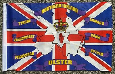 NORTHERN IRELAND 6 COUNTIES 18  X 12  45cm X 30cm Courtesy Flag Boats Flags • 3.29£