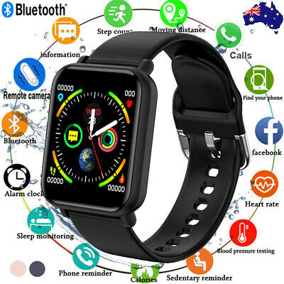 AU27.99 • Buy Smart Watch Bluetooth Heart Rate Blood Pressure Fitness IP68 For IPhone Samsung