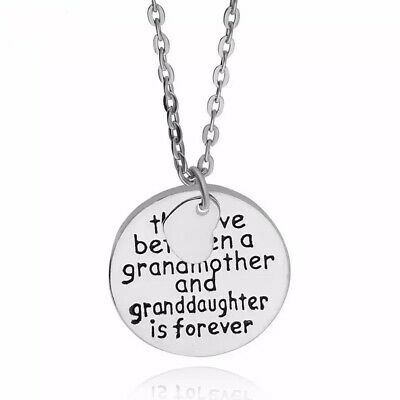 Grandmother Granddaughter Pendant Necklace Chain S Steel Fashion Gift Uk Silver • 4.99£