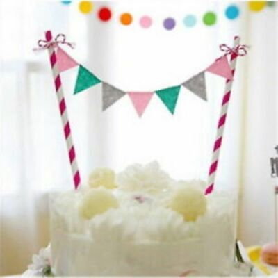 £2.69 • Buy Happy Birthday Cake Topper Bunting Banner Flags Decorations Straws