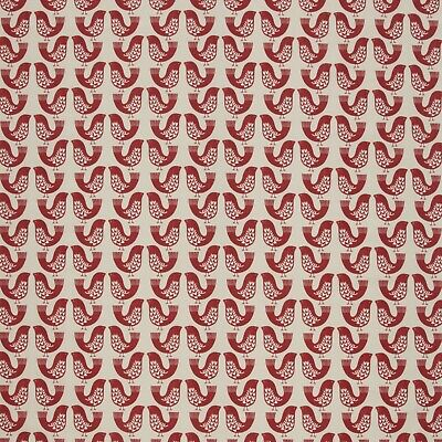 £21.58 • Buy Scandi Birds Scarlet Cotton PVC WIPE CLEAN Tablecloth Oilcloth SMD Iliv
