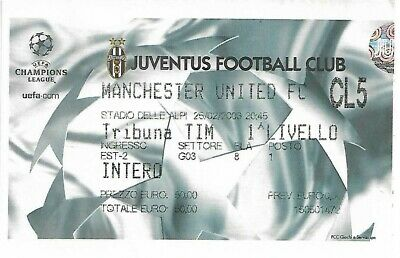 Juventus V Manchester United Champions League Match Ticket 1995 • 2.99£