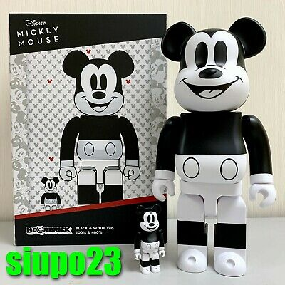 $159.99 • Buy Medicom 400% + 100% Bearbrick ~ Mickey Mouse 2020 Black & White Be@rbrick B&W