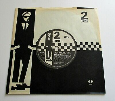 The Swinging Cats - Mantovani UK 1980 Two Tone 7  Single Paper Labels • 44.99£