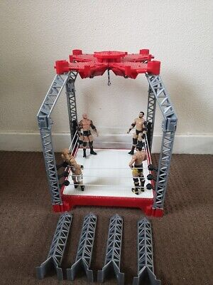 WWE Wrestling Ring (Create A Superstar Ring) And  Figures. • 34.99£