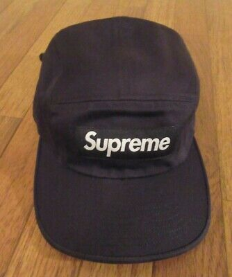 $ CDN131.99 • Buy Supreme Washed Chino Twill Camp Cap Hat Black FW20 Supreme New York 2020 New DS