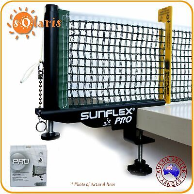 AU59.99 • Buy SUNFLEX PRO ITTF Approved Screw-on Table Tennis Net And Post Set
