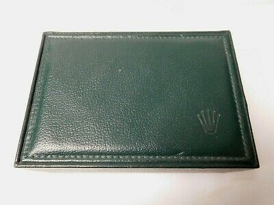 $ CDN213.81 • Buy  Vintage Geneve Suisse Rolex Watch Box Green Leather Wood Lined Suede Pillow