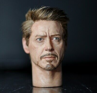 $ CDN240.53 • Buy Custom Ironman Tony Stark Mark 50 Robert Downey 1/6 Head Sculpt Hot Toys