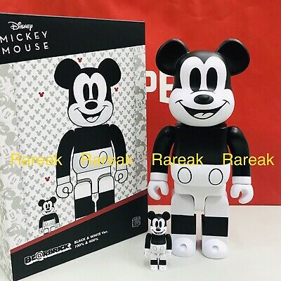 $159.99 • Buy Medicom Be@rbrick 2020 Disney Mickey Mouse Black & White 400% + 100% Bearbrick