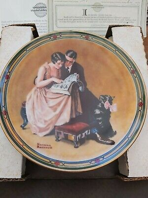 $ CDN6.92 • Buy Edwin M Knowles Norman Rockwell Plate - American Dream - A Couples Commitment 2
