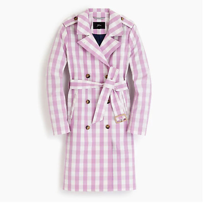 AU188.67 • Buy $300 J.Crew 2011 Icon Trench In Oversized Gingham-L1064-GINGHAM PINK-00,0, 2, 6