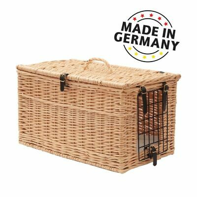 Cat Wicker Basket Carrier Transport Cave Handle Hinged Lid High Quality  • 104.99£