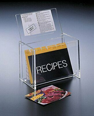 Acrylic Lucite Recipe Box Holder With Recipe Cards, 5 X 3 By Huang Acrylic • 14.88£