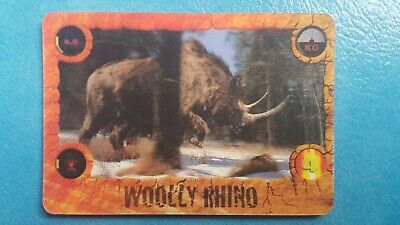 Kelloggs Walking With Beasts 3D Card 2001 Woolly Rhino • 3.99£