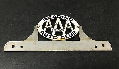 $ CDN105.83 • Buy Reading PA Porcelain License Plate Topper AAA Federation Motor Auto Club Sign