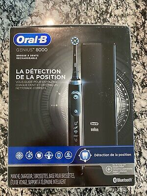 AU158.40 • Buy Oral-B Genius 8000 Electronic Battery Toothbrush Black Edition