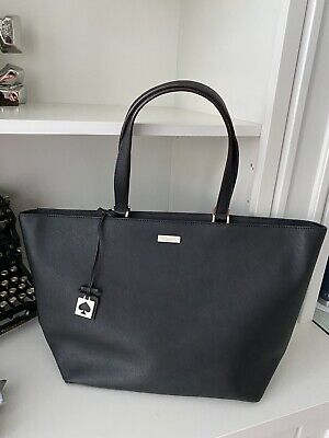 $ CDN135 • Buy KATE SPADE Grant Street Jules Saffiano Leather Large Tote Bag Purse Black